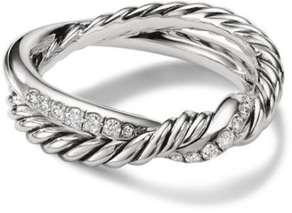 David Yurman Continuance Twist Ring with Diamonds