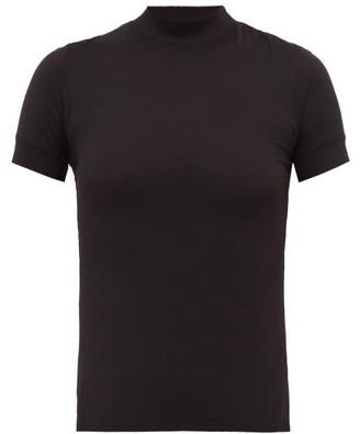 The Row Elan High-neck Jersey T-shirt - Black