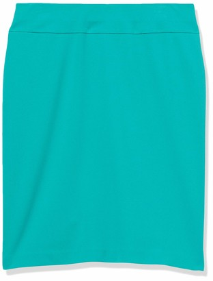 Nine West Women's Heavy Cool Crepe Pull ON Yoke Skirt