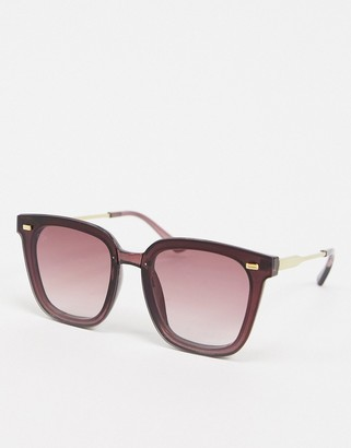 Jeepers Peepers cat eye sunglasses in purple