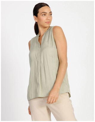 Basque Sleeveless High Low Top