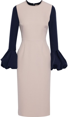 Roksanda Ricciarini Two-tone Bonded Crepe Dress