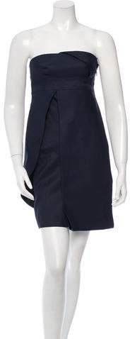 Versace Strapless Overlay Dress