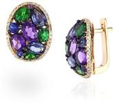 Effy Jewelry Effy 14K Yellow Gold Multi Gemstone & Diamond Earrings
