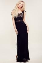 For Love & Lemons Sweet Tea Maxi Dress in Black