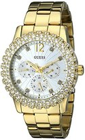 GUESS Women's U0335L2 Gold-Tone Multi-Function Watch with Genuine Crystal-Accented Case