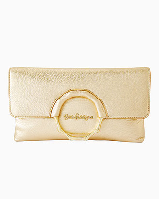Lilly Pulitzer Malindi Leather Clutch
