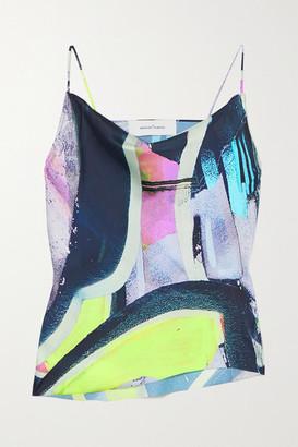 Marques Almeida Draped Printed Crepe Camisole - Pink