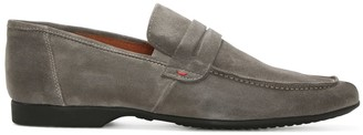 Daniel Rocky 100 Grey Suede Saddle Loafer