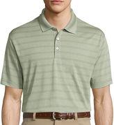 Haggar Short-Sleeve Striped Poly Polo
