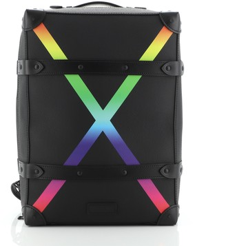 Louis Vuitton Soft Trunk Backpack Rainbow Taiga Leather PM