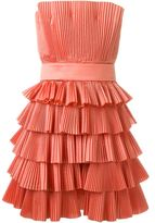 Capucci strapless pleated dress