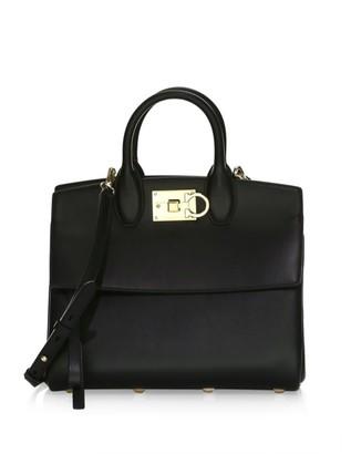 Salvatore Ferragamo Small Studio Leather Top Handle Bag