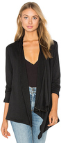 Heather French Terry Shoulder Zip Jacket