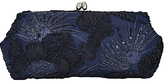 Adrianna Papell Embroidered Clutch Bag, Navy