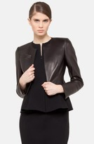 Akris Women's 'Hasso' Leather Crop Jacket