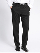 M&S Collection Big & Tall Black Regular Fit Trousers