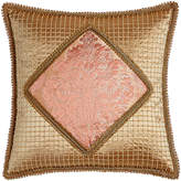 """Sweet Dreams Rue de L'amour Beaded Pillow with Damask Center, 20""""Sq."""