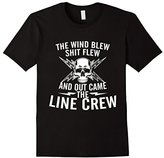 Special Tee Men's The Wind Blew Shit Flew Out Came The Line Crew T-Shirt 3XL