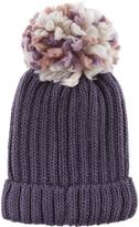 Accessorize Multi Yarn Pom Beanie Hat