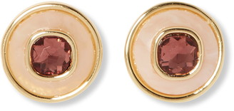 Vince Camuto Crystal Resin Round Stud Earrings