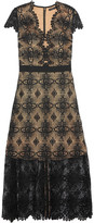 Catherine Deane Garland guipure lace midi dress