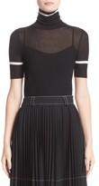 Moncler Women's Stripe Trim Turtleneck Sweater
