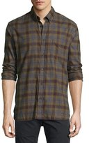 Billy Reid Tuscumbia Plaid Cotton Shirt