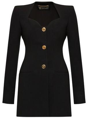 Versace Buttoned long sleeves short dress