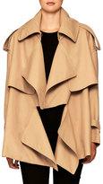 Burberry Gabardine Short Trench Coat