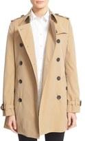 Burberry 'Kensington' Short Trench Coat