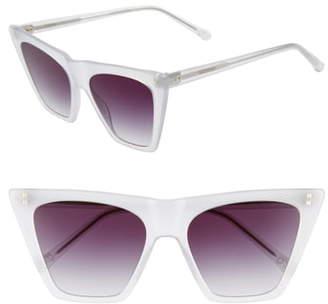 Colors In Optics Metropolitan 55mm Flat Top Sunglasses