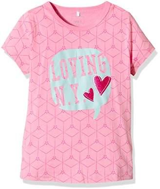 Name It Girl's NITVAIKEN K SS TOP 4 216 T-Shirt, Pink (Prism Pink), 7 Years