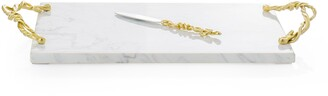 Michael Aram Wisteria Gold Marble Cheese Board & Knife