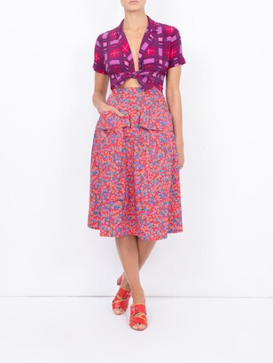 Bardot LHD bright french fig the skirt