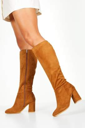 boohoo Wide Fit Knee High Boots