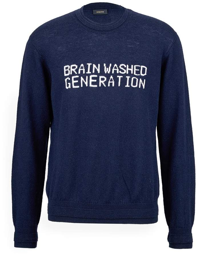 Undercover 'Brain Washed Generation' intarsia wool-cashmere sweater