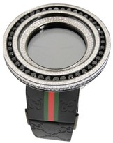 Gucci Digital Black And White 18.5 Ct Diamond 52Mm Bezel Mens Watch
