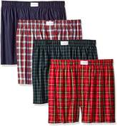 Tommy Hilfiger Men's 4 Pack Woven Boxer