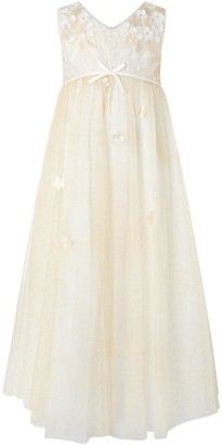 Monsoon Girls Lilly Maxi Dress - Gold