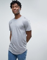 ONLY & SONS Distressed T-Shirt With Curved Hem