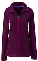 Classic Women's Plus Size Active Knit Panel Jacket-Bright Eggplant/Pink Stripes