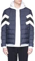 Neil Barrett Stripe panel quilted bomber jacket