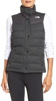 The North Face 'Nuptse Tweed' Water Resistant Down Vest (Nordstrom Exclusive)