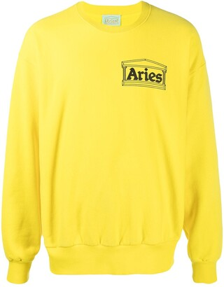 Aries Temple logo-print cotton sweatshirt