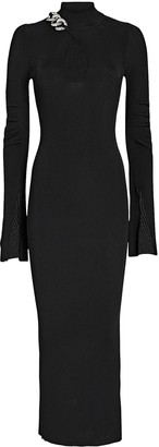 Alexander Wang Split Cuff Turtleneck Midi Dress