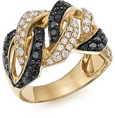 Bloomingdale's White and Black Braided Diamond Band in 14K Yellow Gold, 1.10 ct. t.w.