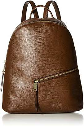 Calvin Klein womens Dali Pebble Leather Diagonal Front Zip Backpack