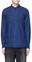 Denham Jeans Edged' check jacquard denim shirt