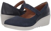 Clarks Un Tallara Ivy (Black Nubuck Leather Combi) Women's Maryjane Shoes